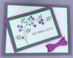 Get Well, Flower Branch with Bow, Christian