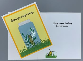 Get Well, Caught A Bug, Laura-GetWell-107 Cards by Laura
