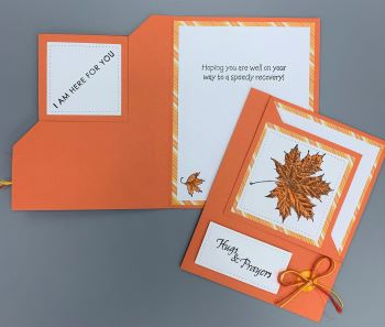 Get Well, Autumn, Corner-Fold Flip, Laura-GetWell-109CF Cards by Laura