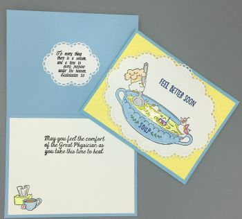 Get Well, Chicken Soup, Christian, Laura-GetWell-117C Cards by Laura