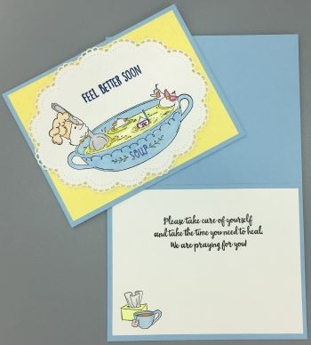 Get Well, Chicken Soup, Laura-GetWell-118 Cards by Laura