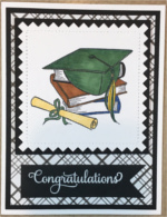 Graduation, Green Cap on Books