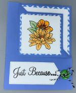 Just a Note, Just Because, Flower, Corner-Fold Flip