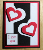 Love, Black/Red Heart Cutout