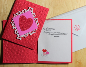 Love, Heart Embossed, Laura-Love-105 Cards by Laura