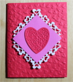 Love, Heart Embossed