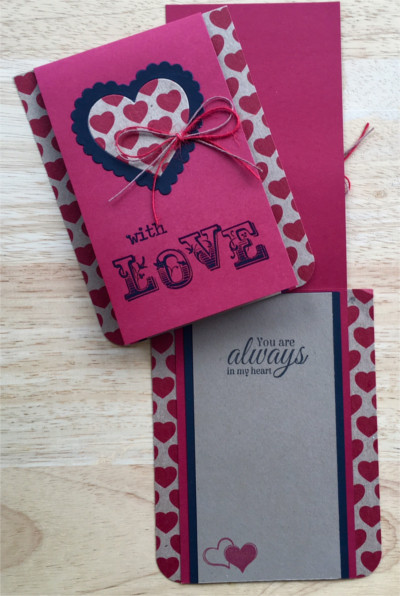 Love, Heart Print Love, Laura-Love-108-CO Cards by Laura