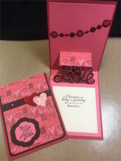 Love, Pop Up, Love Grows, Laura-Love-110-PU Cards by Laura