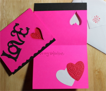 Love, Valentine, Big LOVE, Heart hole, Laura-Love-V100 Cards by Laura