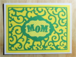 Mom, Green Swirly on Yellow