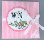 Mom, Squash Fold, Pink Pin Stripe
