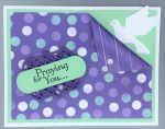 Prayer, Corner Fold, Polka Dot w/Dove