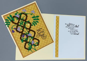 Prayer, Lilac Flower Vine on Trellis, Laura-Pray-103 Cards by Laura