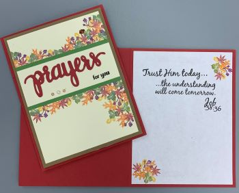 Prayer, Fall Foliage w/Banner, Laura-Pray-113C Cards by Laura