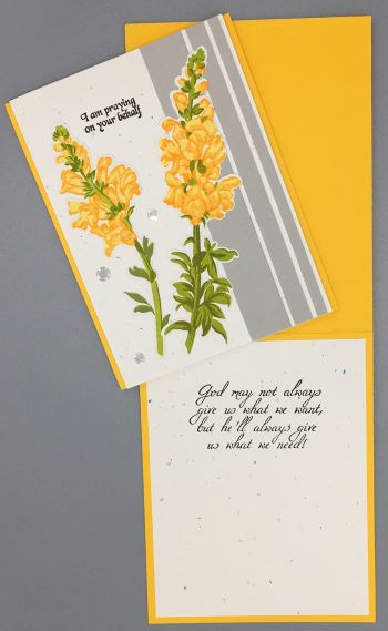 Prayer, Golden Snapdragon, Laura-Pray-121C Cards by Laura