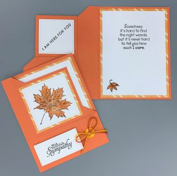 Sympathy, Autumn, Corner-Fold Flip, Laura-Sym-107-CF Cards by Laura