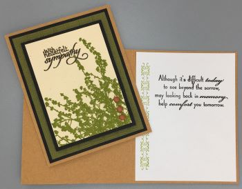 Sympathy, Olive Brush Silhouette II, Laura-Sym-128 Cards by Laura