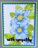 Sympathy-Soft Blue Flower Trio