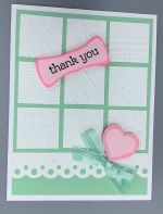 Thank You, Window pane, Mint/Pink