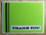 Thank You, Lime Green Stripe