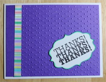 Thank You, Purple Multicolor Stripe, Laura-Thank-111 Cards by Laura