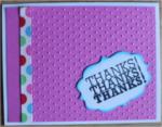 Thank You, Pink Polka Dot Stripe