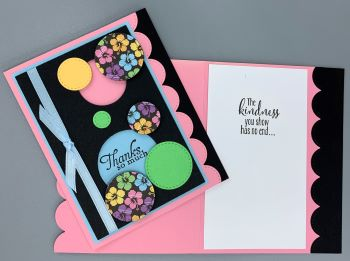 Thank You, Flower Circles in Pastel, Laura-Thank-128 Cards by Laura