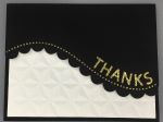 Thank You, Scallop Curve, Black & Gold