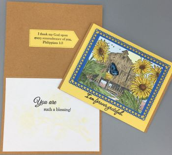Thank You, Sunflower Barn, Pastor, Laura-Thank-140C Cards by Laura