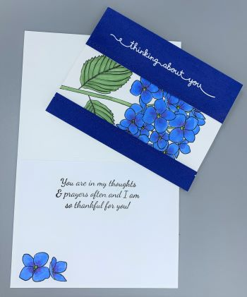 Thinking of You, Hydrangea, Split Cut Out, Laura-TofU-107 Cards by Laura