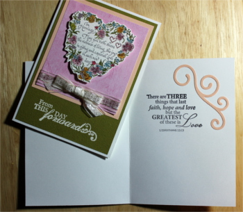 Wedding, Water-color Heart, Christian, Laura-Wed-110C Cards by Laura