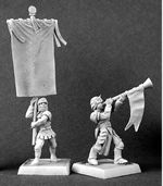 14300: Crusader Standard Bearer and Musician